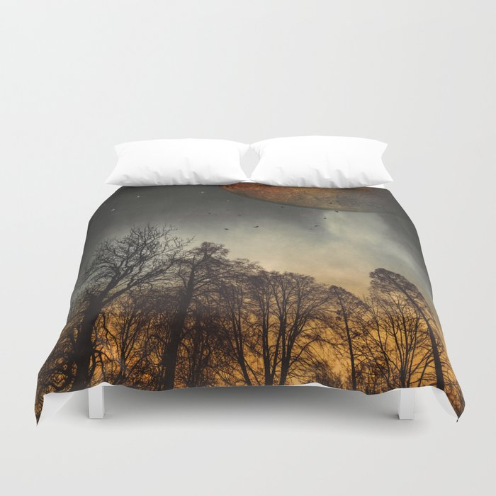 when the mOOn was young Duvet Cover