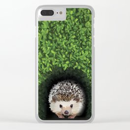Little Hedgehog in the Hedge Clear iPhone Case