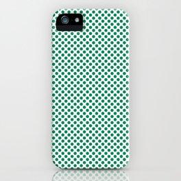 Jelly Bean Green Polka Dots iPhone Case