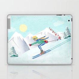 Skiing Girl Laptop & iPad Skin