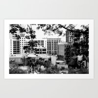 LA Buildings Art Print
