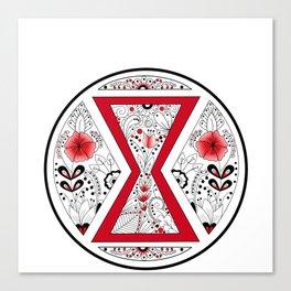 Black Widow Mandala Canvas Print