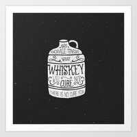 whiskey Art Prints featuring WHISKEY by magdam