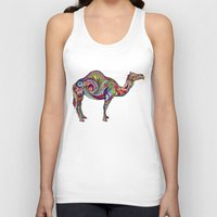camel Tank Tops featuring Camel by Green Girl Canvas