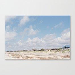Beach Front Homes Canvas Print