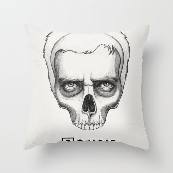 Gregory House Skull House MD Art Throw Pillow