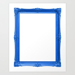 Blue Antique Frame Art Print