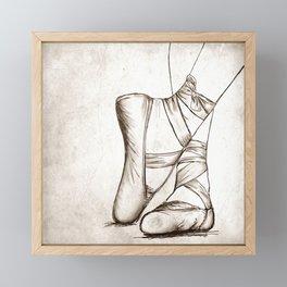Vintage Ballet Framed Mini Art Print
