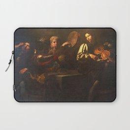 Valentin de Boulogne - Musicians and soldiers Laptop Sleeve