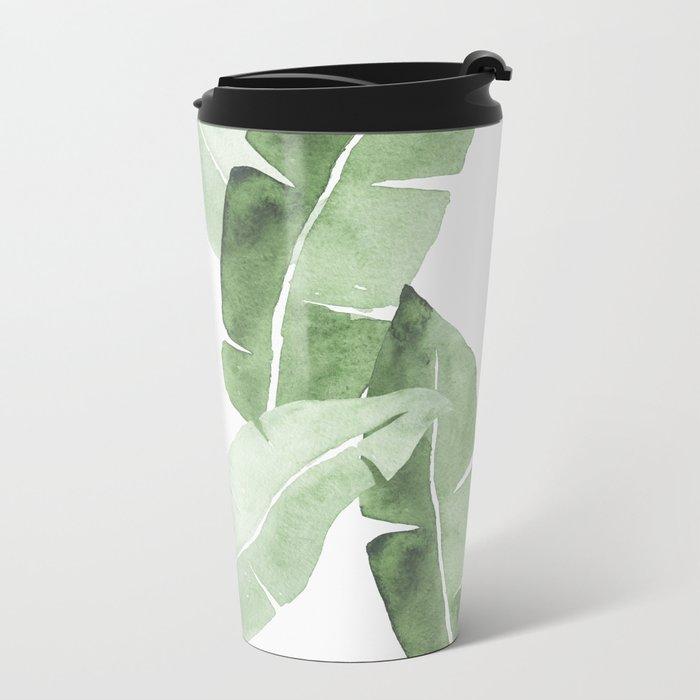 Tropical Leaves 2 Metal Travel Mug