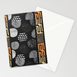 African Tribal Pattern No. 120 Stationery Cards