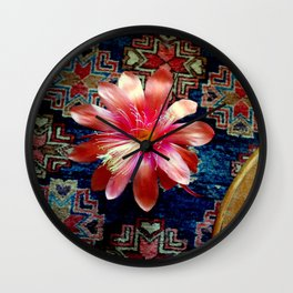 Cactus Flower By Design Wall Clock