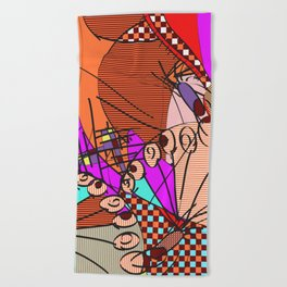 Colorful Shapes 2 Beach Towel