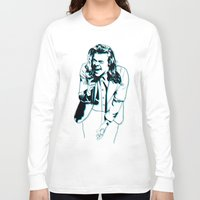 harry styles Long Sleeve T-shirts featuring Harry Styles  by Ashley McKinney