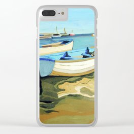 The Blue Boats Clear iPhone Case