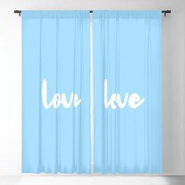 Love Blue Blackout Curtain