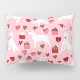 Bull Terrier white valentines day cupcakes hearts dog breed pet friendly dog gifts bull terriers Pillow Sham