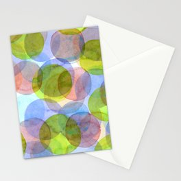 Green Red Blue Circles Stationery Cards
