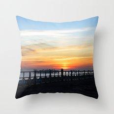 Quiet sunset Throw Pillow