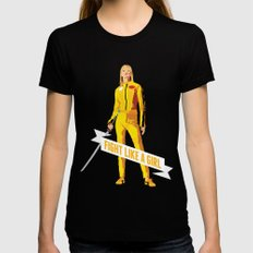Fight Like a Girl: Beatrix Kiddo Womens Fitted Tee Black LARGE