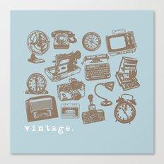 blue vintage  Canvas Print