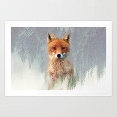 Vanishing Fox Art Print