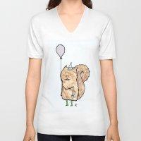 happy birthday V-neck T-shirts featuring Happy Birthday! by giuditta matteucci