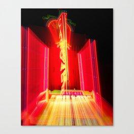 Theater Theatrics Cascade Theatre in Redding California zoom burst Canvas Print