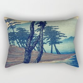 Late swimming after the floods in Hainsay Rectangular Pillow