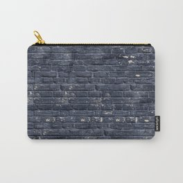 Black Brick Wall Carry-All Pouch
