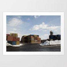 Pointe St. Charles Shipping Yard Art Print