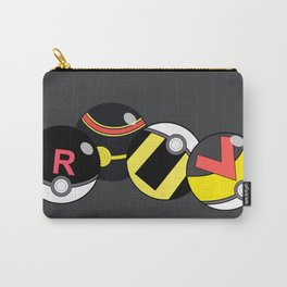Pokeballs Black & Gray theme Carry-All Pouch