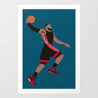 lebron Art Prints featuring Lebron by rusto