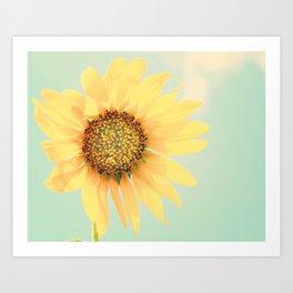 Sunflower Power Pop! Art Print