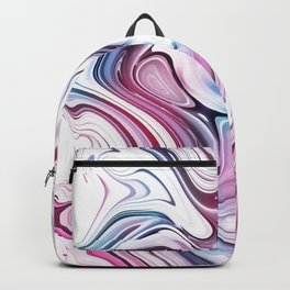 Liquid Marble - Pink and Blue Backpack
