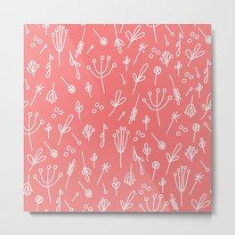 Dandelion Fields (peach) Metal Print
