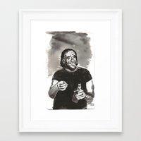bukowski Framed Art Prints featuring Bukowski by Hosho McCreesh