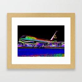KLM Airlines Digital Art Framed Art Print