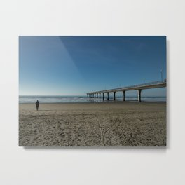Out to sea, New Brighton Beach, Christchurch, New Zealand Metal Print