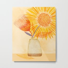 Tuesday Afternoon Sunflowers Metal Print