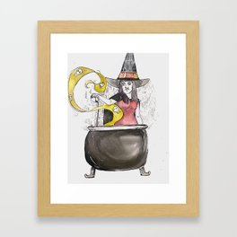 Cauldron Witch Framed Art Print