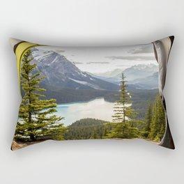 LAKE - MAN - FEET - TENT - PHOTOGRAPHY Rectangular Pillow