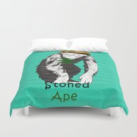 ape Duvet Covers featuring Stoned Ape by Design4u Studio