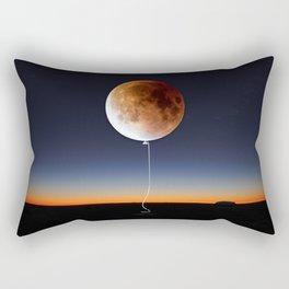 Red Balloon Moon Rectangular Pillow
