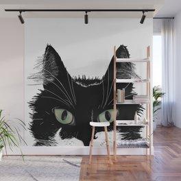 Tuxedo Cat Wall Mural