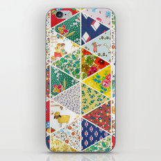 Geometric Floral Quilt iPhone & iPod Skin
