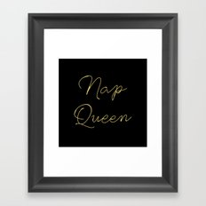 Nap Queen Framed Art Print