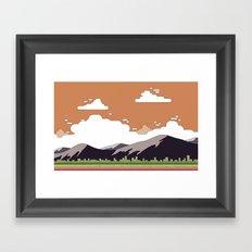 Minimal sunset Framed Art Print