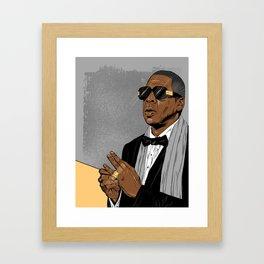 "Jay Z - ""Grey Hova"" Framed Art Print"