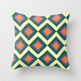 Retro Pattern VII Throw Pillow